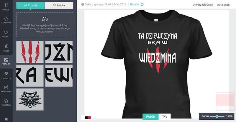 f787ef028c Najlepszy Kreator Koszulek - Zaprojektuj koszulkę z własnym nadrukiem
